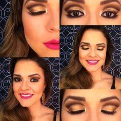 A @palomafernac, do Beauty Team da NYX Vitória, apostou numa versão glamourosa de Cut crease para a sua maquiagem de hoje