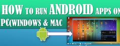 How to run Android apps for PC? Don't worry we have some easy steps to get all android apps that can also run in your PC (Like Windows and MAC). For more visit www.techloya.com