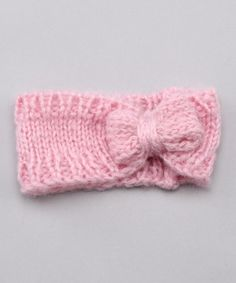 Would this cute in the winter on a woman? Perhaps a different pink.  I've just got a thing for bows. This headband makes me happy.
