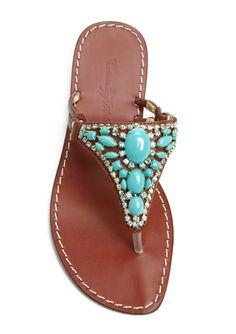 Cute turquoise sandals on ideeli for $69.99!