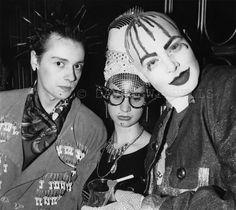 Trojan, Nicola Bateman and Leigh Bowery at Taboo, 1985