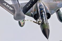 Photo: (c) Fox 3 shots - A French Armée de l'Air Dassault Mirage 2000N refuels from a US tanker. Eight Mirage 2000N will have their communication systems modernized