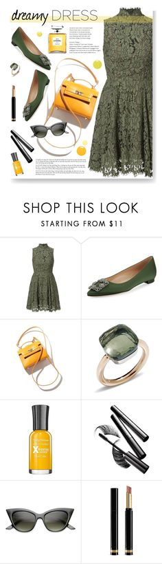 """Dreamy Dress"" by tamara-p ❤ liked on Polyvore featuring Manolo Blahnik, Pomellato, Chantecaille, ZeroUV, Gucci and dreamydresses"