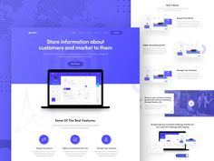 Web Application Landing page by Ofspace Team on Dribbble Landing Page Inspiration, Web Design Inspiration, Website Design Layout, Web Layout, Graphisches Design, Flat Design, Icon Design, Case Study Design, Coach Website
