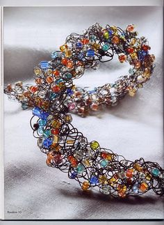 MUST learn how to crochet wire jewelry
