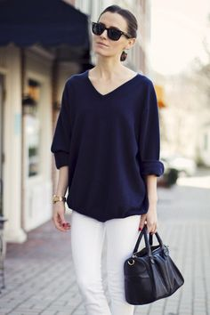 simple v-neck sweater / sweatshirt