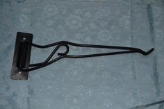 Vintage Swing Arm Bird Cage Hook Plant Hanger Black Marked Hendryx #Hendryx