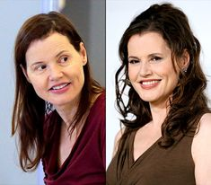Geena Davis - LEFT: going through security at LAX on Oct. 1, 2013. - RIGHT: at the 2nd Annual Beyond Hunger: A Place at the Table Benefit on Sept. 19, 2013
