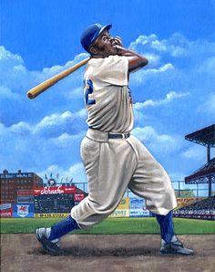 Jackie Robinson, Brooklyn by Paul Lempa