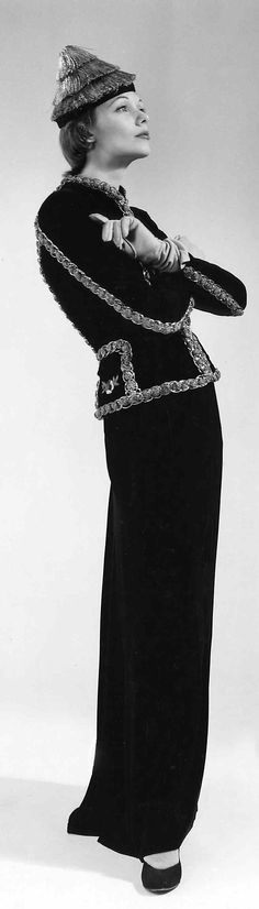 Jacket, Evening.  Elsa Schiaparelli  (Italian, 1890–1973).  Manufacturer: House of Lesage (French, founded 1922). Date: winter 1938–39. Culture: French. Medium: silk, metal. Dimensions: Length at CB: 24 in. (61 cm).