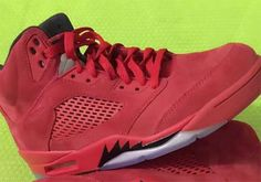 830a1a9ace7086 Air Jordan 5 Red Suede July 2017