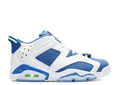 6d50c323fb94da 2018 Discount AIR JORDAN 6 RETRO LOW SEAHAWKS white ghost green-insgn blue  304401 106