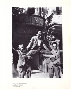 Jean Arp, Tristan Tzara and Hans Richter, 1917-1918. Sophie Taeuber, Hans Richter, Tristan Tzara, Jean Arp, Singular, Different Media, Online Art Gallery, Great Artists, Art Museum