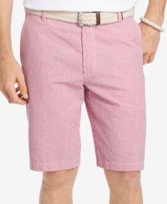 """Izod Men's Sandy Bay Seersucker 10.5"""" Shorts - Green 36"""