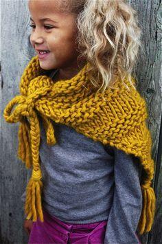 """Kit tricot chèche """"Magical girl"""".  Princesse des neiges"""