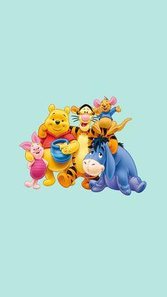 (notitle) - Winnie the pooh - Disney Mickey Mouse Wallpaper Iphone, Cartoon Wallpaper Iphone, Cute Disney Wallpaper, Cute Wallpaper Backgrounds, Cute Cartoon Wallpapers, Phone Wallpapers, Iphone Cartoon, Cute Winnie The Pooh, Disney Background