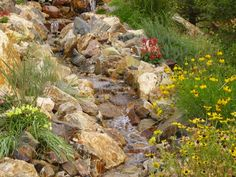 Natural Water Feature, Waterfall Landscaping Pond and Waterfall Stone Falls Landscaping Lakewood, CO