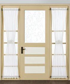 White Sheer Door Panel #zulilyfinds
