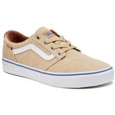 Vans Chapman Men's Skate Shoes ($50) ❤ liked on Polyvore featuring men's fashion, men's shoes, men's sneakers, dark beige, mens skate shoes, mens sneakers, mens lace up shoes, vans mens shoes and mens shoes