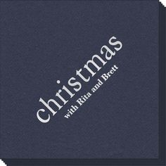 Personalized Big Word Christmas Linen Like Napkins