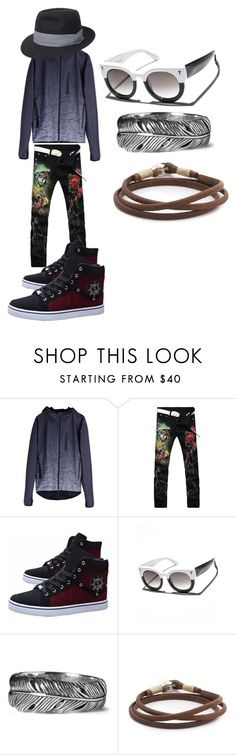 """Black is Black"" by rasmus-herbst on Polyvore featuring Puma, VALLEY, Seven Jewellery, Caputo & Co., men's fashion and menswear"