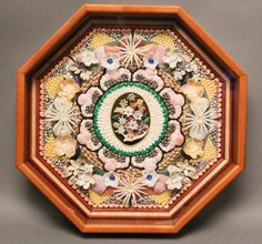 Richard Lee Hand Made Sailor's Valentine, made with unique seashells.   May 24, 2014 Auction at Rafael Osona Auctions Nantucket, MA