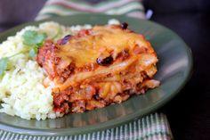 Ground Beef Enchilada Casserole from @jamiecooksitup
