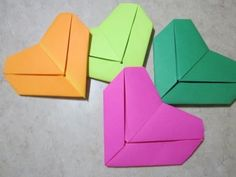 ▶ Origami How To: Letter Fold Heart - YouTube