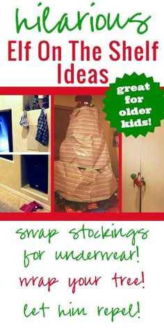 Need some inspiration? These hilarious Elf on the Shelf ideas are great for homes with older kids to impress!