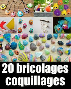 Quelques idées pour recycler les coquillages ramenés de la plage