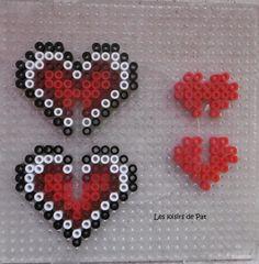 Perles : Coeurs 3D