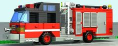 Lego Fire Truck History Of Lego, Lego Board Game, Legoland Theme Park, Lego Film, Lego Videos, Firetruck, Emergency Response, Emergency Vehicles, Cool Lego