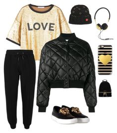 """Love yourself"" by im-karla-with-a-k on Polyvore featuring MANGO, STELLA McCARTNEY, Versace, Frends, Casetify, Maria Francesca Pepe and MICHAEL Michael Kors"