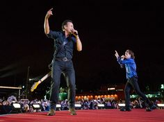 29 may 2014incredible photos of Rolling Stones + Bruce Springsteen together on stage Lisbon