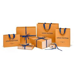 we designed for LOUIS VUITTON a new range of packagings, around an updated visual identity based on a custom typography. bags and boxes are now dressed in 'imperial saffron', a distinctive color lifted from the house history. cottons ribbons and handles are set in a vivid blue, a hue used in trunks personalization details since 1854. @louisvuitton #imperialsaffron #mmparis