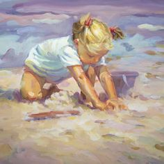 Beach Blonde - 16x16 by lucelle raad....the best artist!!