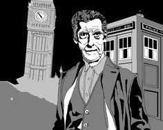 Peter Capaldi - the 12th Doctor. Produce on Wacom Bamboo Graphics tablet.