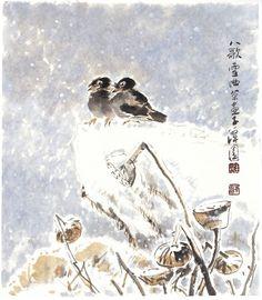 "Korean Artist ""damwon Kim-Chang bae大韓民國 潭園金昌培 畵家 "" Zen Art 팔가설곡(50×55cm)2011年作"