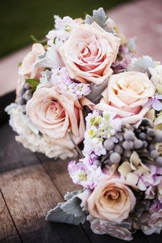 Pretty Pastels -- Flowers for Bouquet or Centerpieces - See more on #smp here: http://www.StyleMePretty.com/midwest-weddings/2014/04/11/romantic-wine-country-wedding/ Vrai Photography - vraiphoto.com
