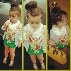 Cute little Fashionista My Baby Girl, My Little Girl, Girly Girl, Estilo Fashion, Look Fashion, Kids Fashion, Cute Kids, Cute Babies, Baby Kids