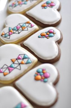 Geometric and Bubble Heart Sugar Cookies | Flickr - Photo Sharing!