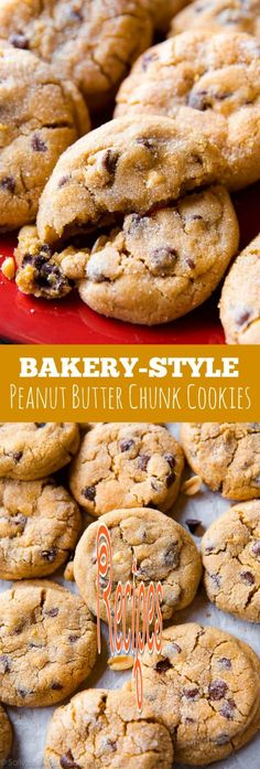 Here's how to make big bakery-style peanut butter chunk cookies right at home! They're thick, soft, very addicting, and filled with chocolate chips!  Follow us for more Recipes in our website : http://best-recipes0.blogspot.com/