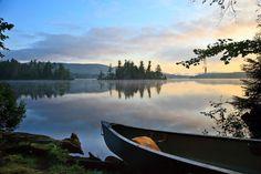 buck pond adirondacks | Canoeing on Lake Kushaqua, Adirondacks | we have camped there...