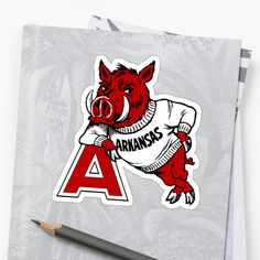 'Vintage Arkansas Razorback' Sticker by cpetigna Iphone Wallet, Iphone Cases, University Of Arkansas, Arkansas Razorbacks, Classic T Shirts, Alma Mater, Stickers, Logos, Artwork