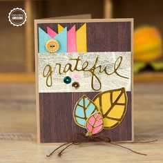 Grateful Card (a Silhouette project) by Corri Garza