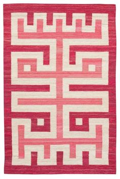 Flat weave  rug (rölakan), Sweden, 1960's.
