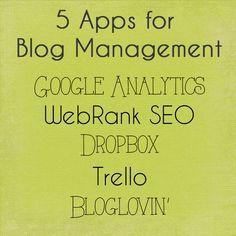 5 Apps for Blog Management - Sarah M Schultz Designs