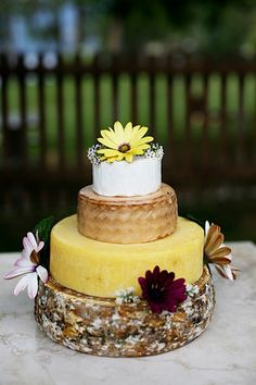 """Worse Part about Wedding Cakes Made of cheese. Having to """"Cut the Cheese"""" with everyone watching"""