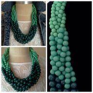 Green Multi-Strand Pearl Twist Necklace, $21