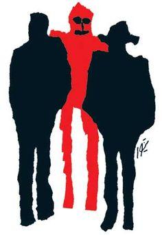 خون بر شنل سرخ- مجله تماشا- 1351 Illustration for Tamasha magazine-1972